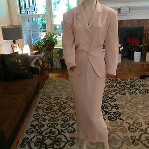 Talbots ladies 2pc Pink dress suit